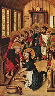 Christ Washing the Feet of the Apostles by Meister des Hausbuches, 1475