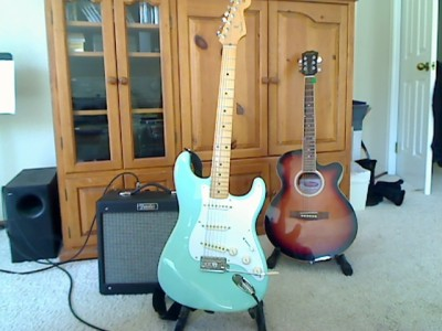 Stratocaster and Blues Jr