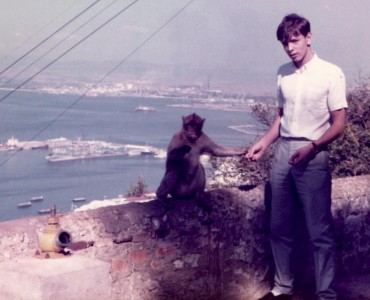 Top of the Rock of Gibraltar with a Barbary Ape