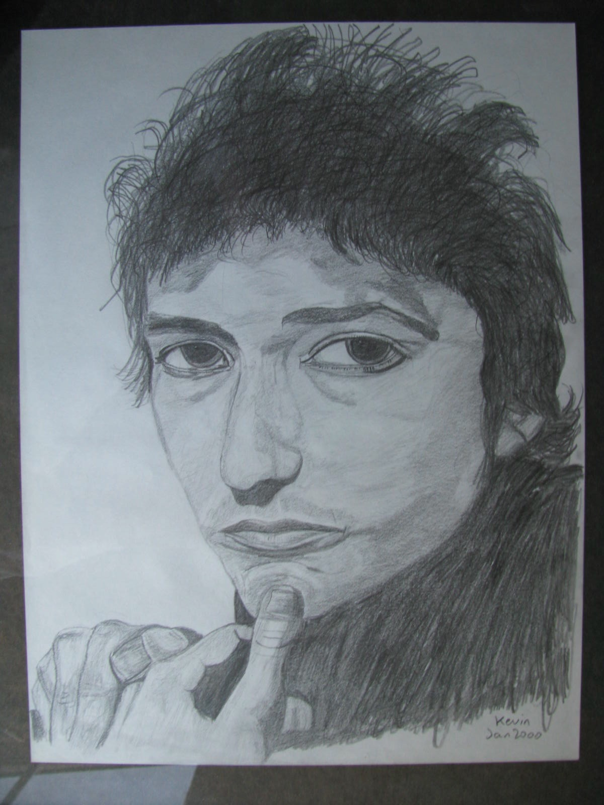 Drawing: Bob Dylan
