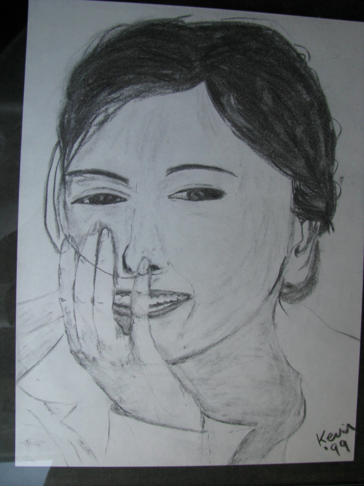 Drawing: Charcoal Lady