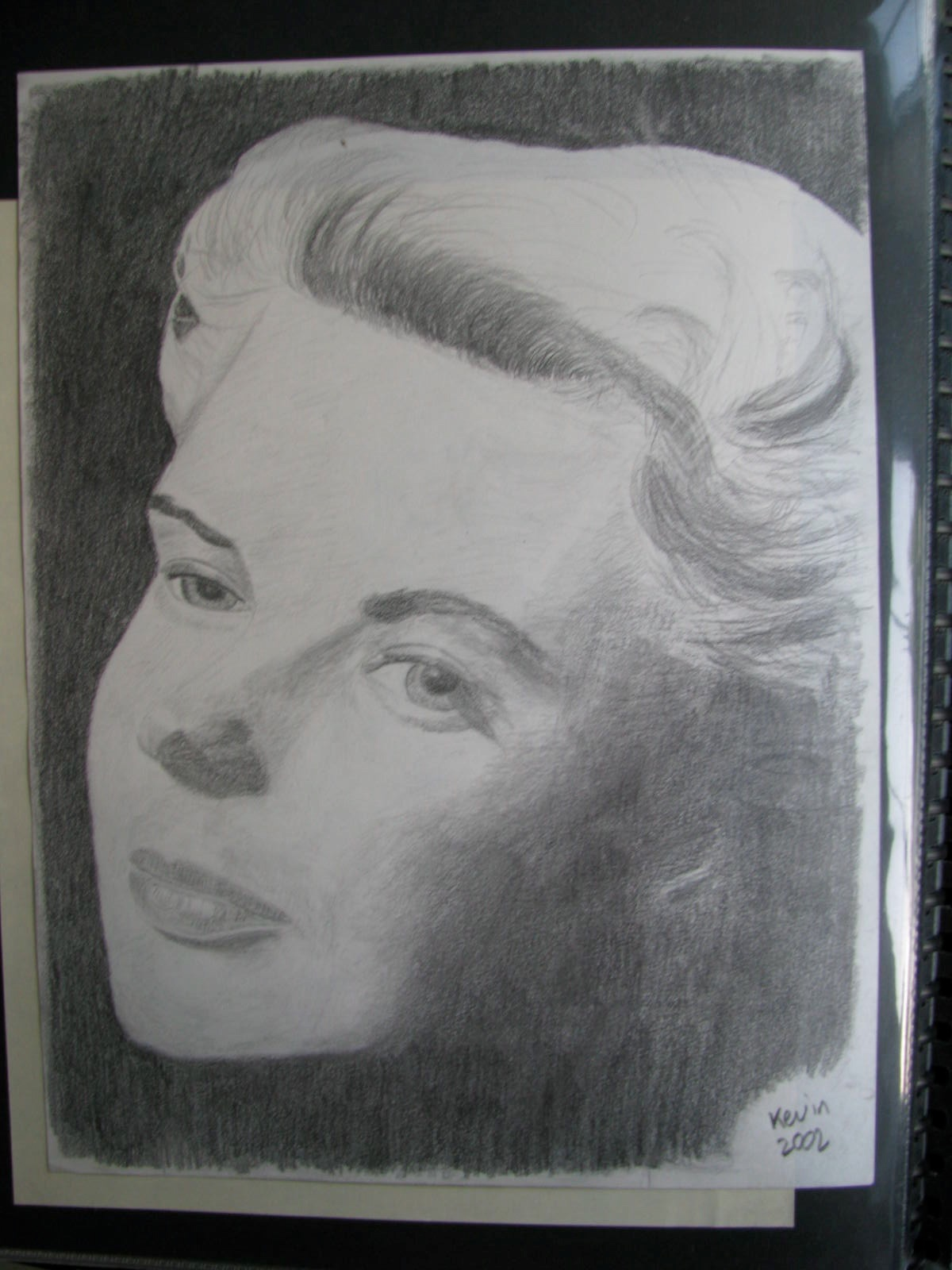 Drawing: Ingrid Bergman