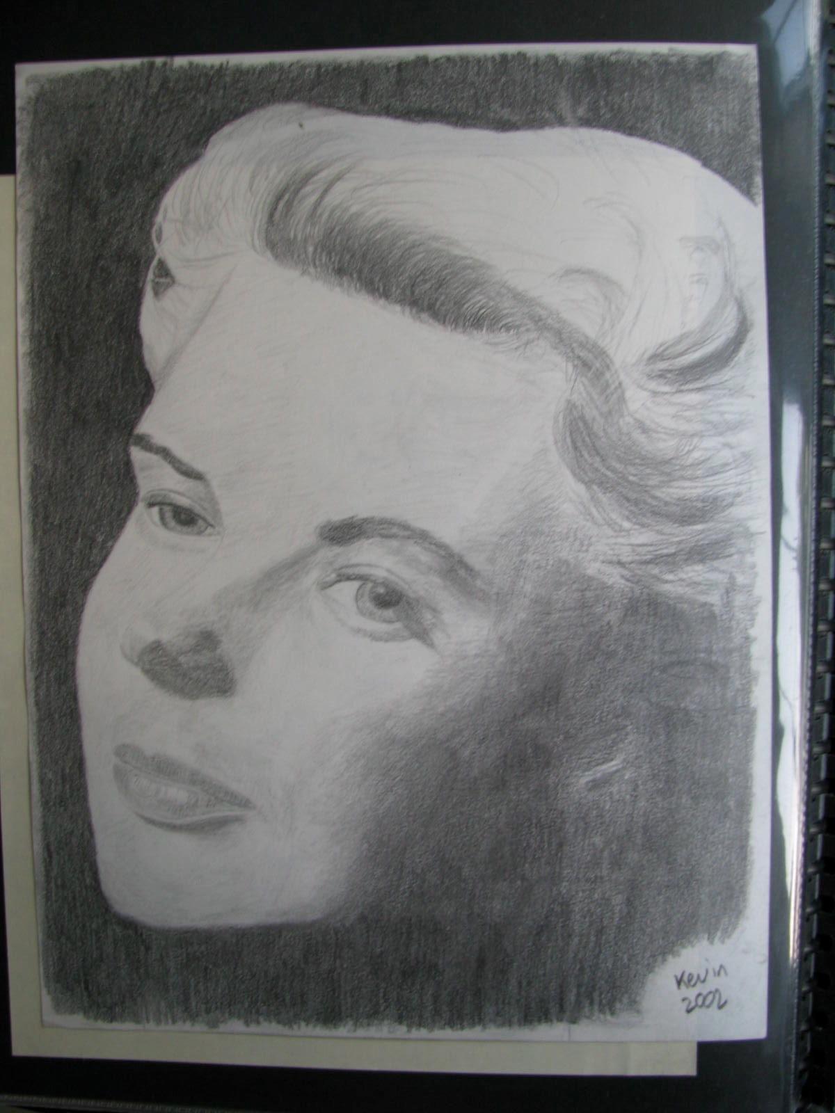 Drawing: Ingrid Bergman
