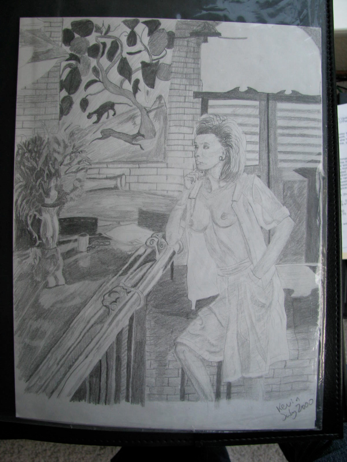 Drawing: Woman at Bar