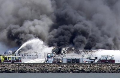 Burning Plane at SFO